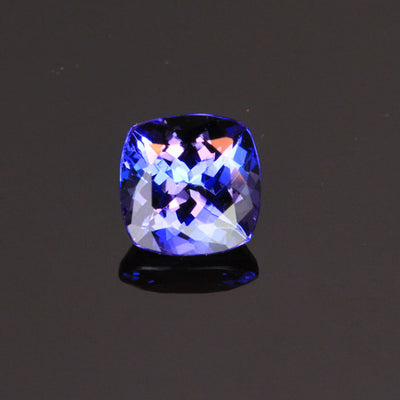 Violet Blue Square Cushion Tanzanite Gemstone 1.0 Carats