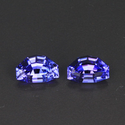 Matching pair of Eqaulette Cut Tanzanite 6.37 Carats