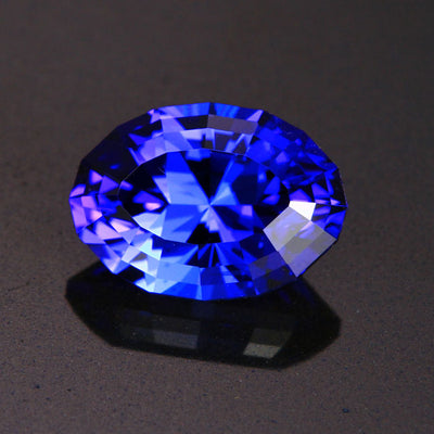 Violet Blue Mixed Oval Tanzanite Gemstone 4.16 Carats