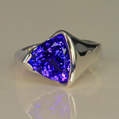 unique trilliant tanzanite ring