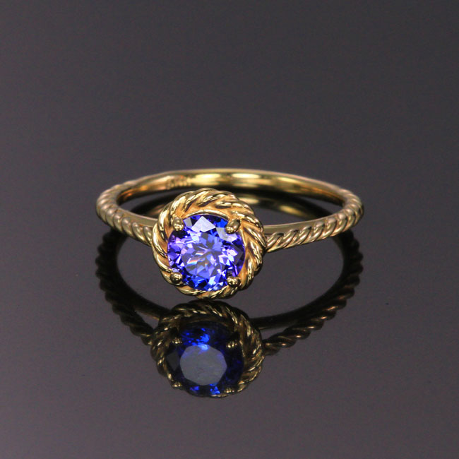 1af72994a93a5 Tanzanite Rings | Diamond Rose, White & Yellow Gold Rings ...
