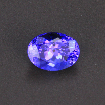 Blue Violet Oval Tanzanite Gemstone 1.75 Carats
