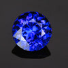 Violet Blue Round Brilliant Cut Tanzanite Gesmtone 5.98 Carats