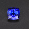 Violet Blue Square Cushion Tanzanite Gemstone 2.80 Carats