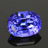 Blue Violet Stepped Oval Tanzanite Gemstone 2.64 Carats