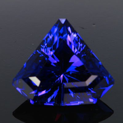blue violet shield tanzanite gemstone