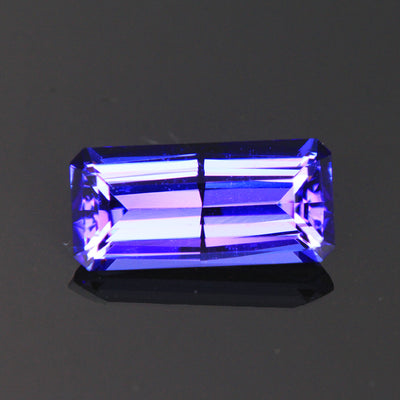 Blue Violet Emerald Cut  Tanzanite Gemstone 3.32 Carats