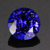 Blue Violet Exceptional Round Tanzanite Gemstone 3.47 Carats