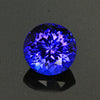 Blue Violet Exceptional Round Tanzanite Gemstone 3.55 Carats