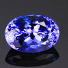 intense blue violet oval tanzanite gemstone