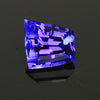 Blue Violet Vivid Free Form Step Cut Tanzanite Gemstone 3.80 Carats