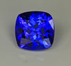 Violet Blue Square Cushion Tanzanite Gemstone 4.45 Carats