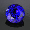 Blue Violet Exceptional Round Brilliant Tanzanite Gemstone  4.01 Carats