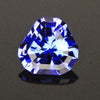 Blue Violet Intense Trilliant Cut Tanzanite Gemstone  2.59 Carats