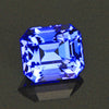 Violet Blue Vivid Emerald Cut Tanzanite Gemstone  2.35 Carats