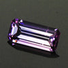 Purple Emerald Cut Tanzanite Gemstone  1.88 Carats