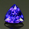 Blue Violet Exceptional Trilliant Cut Tanzanite Gemstone 4.11 Carats
