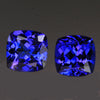 Blue Violet Pair Square CushionTanzanite Gemstone 3.36 Carats