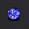 Violet Blue Round Brilliant Tanzanite Gemstone 1.15 Carats