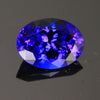 Blue Violet Exceptional Oval Tanzanite Gemstone  8.18 Carats