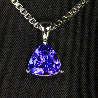 Trillian Tanzanite Pendant White Gold