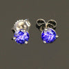 .59 Ct. Round Tanzanite Stud Earrings