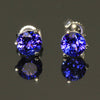 1.49 Ct. Round Tanzanite Stud Earrings