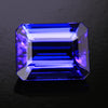 Blue Violet Emerald Cut Tanzanite Gemstone  2.98 Carats