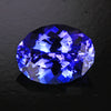 Blue Violet Intense Oval Tanzanite Gemstone  2.43 Carats
