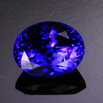 Blue Violet Exceptional Oval Tanzanite Gemstone 4.05 Carats