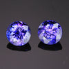 matched pair round tanzanite gemstones