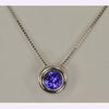 Sterling Silver Floating Tanzanite Necklace .78 Carats
