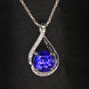 14K White Gold Tanzanite Pendant with Diamonds 3.55 Carats