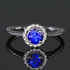 14K White Gold Round Tanzanite Ring