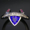 Tanzanite, Diamond and Pink Sapphire Ring 1.32 Carats