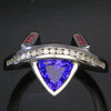 Tanzanite diamond pink sapphires trilliant ring