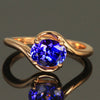 14 Kt. Rose Gold Tanzanite Bypass Ring