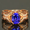 14 Kt Rose Gold Tanzanite Ring with Diamonds