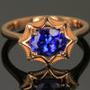 14K Rose Gold Tanzanite Ring