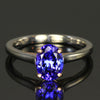 14K White and Rose Gold Tanzanite Ring 1.45 Carats