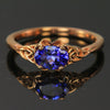 14K Rose gold Tanzanite Ring .74 Carats