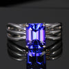14k White Gold Tanzanite Ring 2.75 Carats