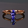 14K Rose Gold Oval Tanzanite Ring .85 Carats