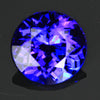 Blue Violet Exceptional Round Brilliant Tanzanite Gemstone 3.74 Carats