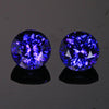 Blue Violet Round Brillant Pair Tanzanite Gemstone 2.93 Carats