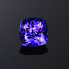 Blue Violet Square Cushion Tanzanite Gemstone 5.17 Carats