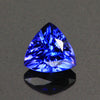 Violet Blue Vivid Trilliant Tanzanite Gemstone .92 Carats