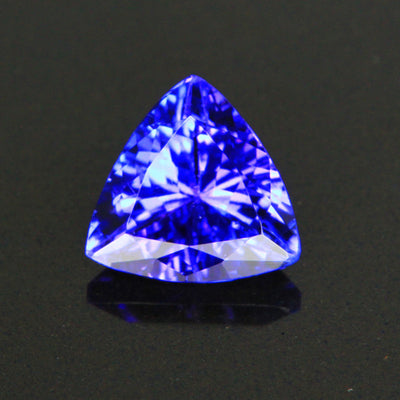 Violet Blue Vivid Trilliant Tanzanite Gemstone 1.27 Carats