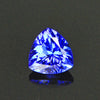 Violet Blue Intense Trilliant Tanzanite Gemstone .93 Carats