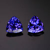 Blue Violet Trillant Pair Tanzanite 3.82 Carats